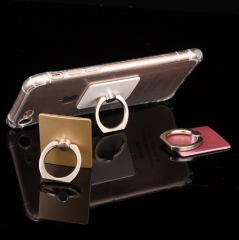 360 Degree Finger Ring Grip Mobile Phone Tablets Holder Stand Holder Back Cover 40*35*7mm silver suqare