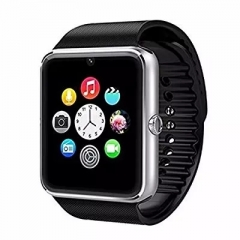 GT08 Wearable Smart Watch With Hands-Free Call Phone Clock Push Message For IOS And Android silver one size