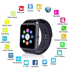 GT08 Wearable Smart Watch With Hands-Free Call Phone Clock Push Message For IOS And Android black one size