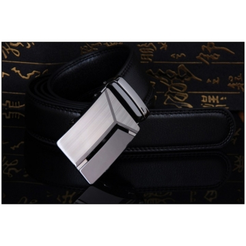 Designer Leather PU Leather Automatic Buckle Business Belts For Man Fashion Popular Brand Male black normal