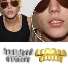 Top Bootom Vampire Gold Silver Plated Teeth Protector Halloween Christmas Party