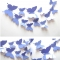 12PCS/Set Butterflies 3D Wall Stickers Home Decor Art for Wedding Party Wall Decoration Wallpaper light purple 12pcs per  packing
