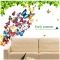 24pcs/set New Arrival Colorful 3D Butterfly Wall Stickers Party Wedding Decor DIY Home Decorations Colorful One size