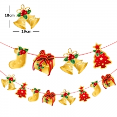 Christmas Decoration Banner Flag New Year Party Decoration Santa Flags Garlands Christmas Decor Z2 pattern one size