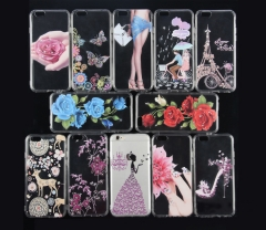Luxury Flower Case For IPhone5/5s/5c/ 6 Plus Cartoon Minnie Soft Silicon TPU Back Cover For iphone random iphone 6 plus