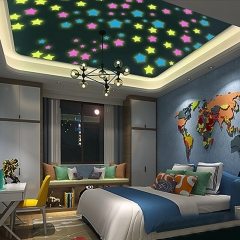 100pcs Wall Star Stickers Decal Glow In The Dark Baby Kids Bedroom Home Decorations mixed 100pcs per packing