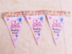 10Flags/Pack Birthday Party Flag Banners Kids Event Birthday Party Supplies flag RANDOM 2.5m