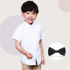 New Arrival Summer Short Sleeve Baby Clothes White School Boys Shirts Turn-down Collar Boy Shirt white 110