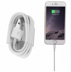USB Cable for Iphone Cable 6 Plus 6s 5s 5 Ipad Mini Fast Charging Cable Mobile Phone Charger Cord white normal