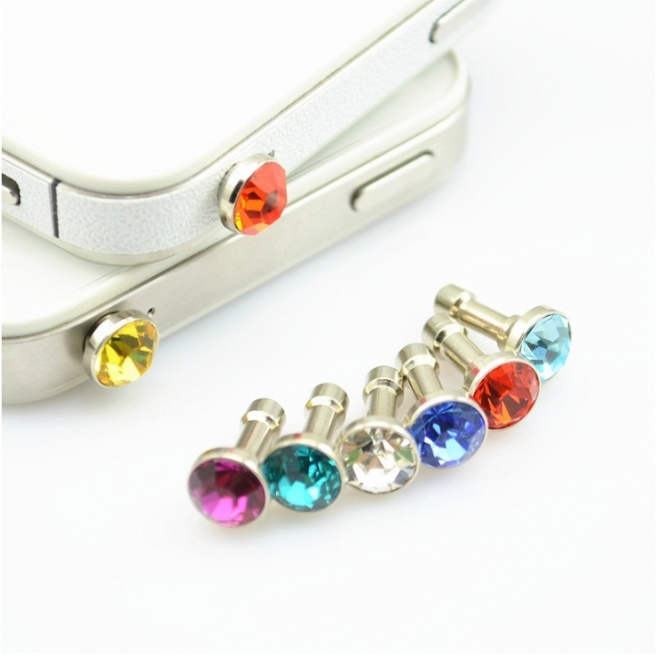 3.5mm Diamond Dust Plug Mobile Phone accessories gadgets Earphone enchufe del polvo Plugs random fit size