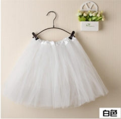 High Quality Children Girls Ballet Costumes Ballet Tutu Skirt Kids Ballet Dancewear(three layers) white fit size