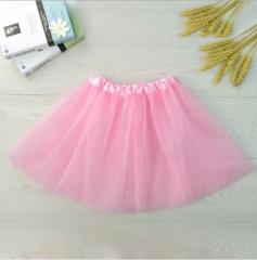 Children Girls Ballet Costumes Ballet Tutu Skirt Kids Ballet Dancewear( one layer) pink fit size