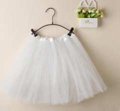 Children Girls Ballet Costumes Ballet Tutu Skirt Kids Ballet Dancewear( one layer) white fit size
