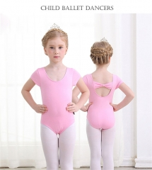 Kids Ballerina Cotton Ballet Dance Gymnastics Leotard for Girls Dancing Bodysuits Costumes Clothing pink 110