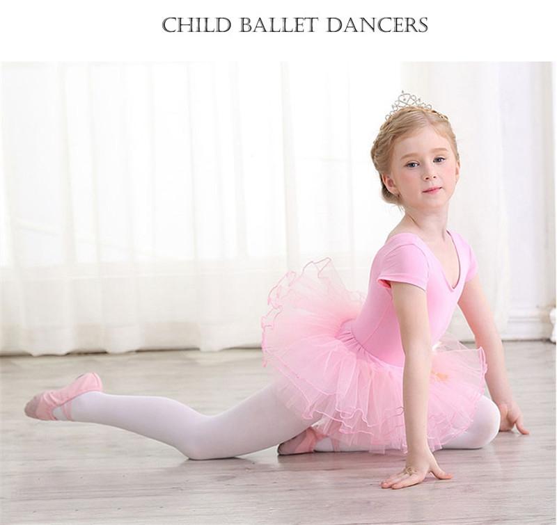 1cd79bf6775e Kids Ballerina Cotton Ballet Dance Gymnastics Leotard for Girls ...
