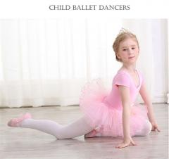 Kids Ballerina Cotton Ballet Dance Gymnastics Leotard for Girls Dancing Bodysuits Costumes Clothing pink 130