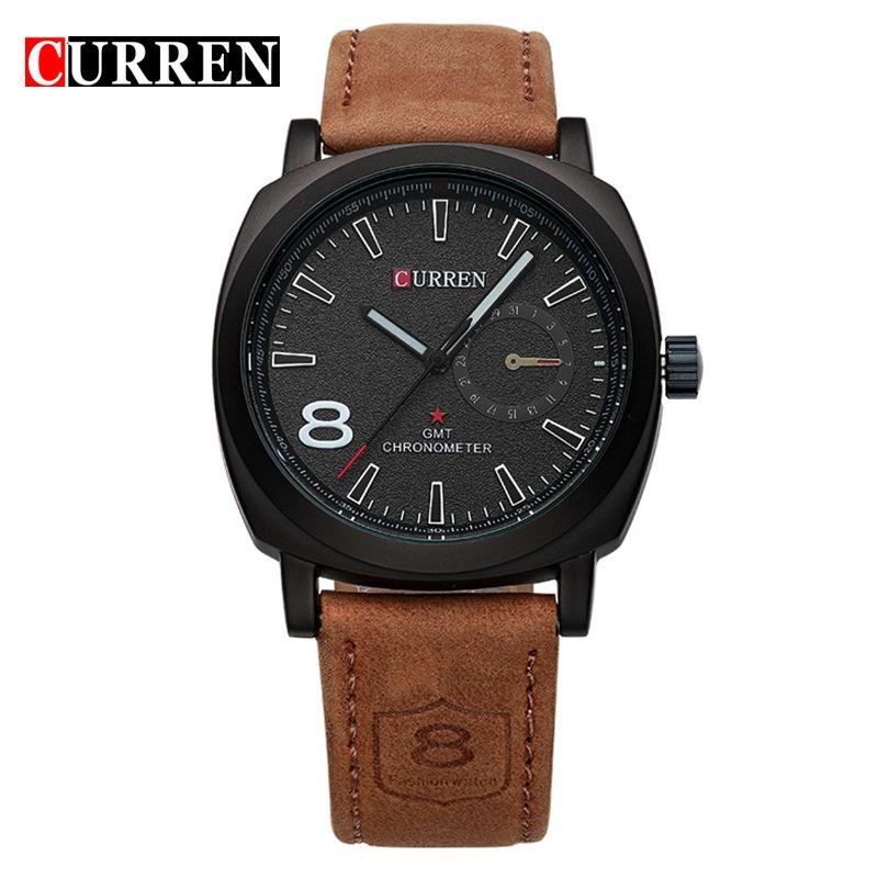 CURREN Brand Men Watch Fashion Sport Leather Wristwatches