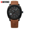 CURREN Brand Men Watch Fashion Sport Leather Wristwatches Relogio Masculino glod+black normal