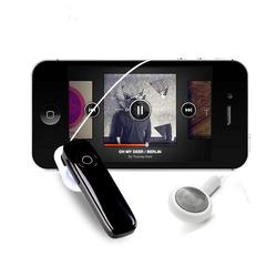 Bluetooth Wireless Headphones Mini Handsfree Headset Mic Hidden Earbuds for All Smart Phones Black