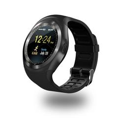 Bluetooth Y1 Smart Watch Relogio Android SmartWatch Phone Call GSM Remote Display Sports Pedometer black one size