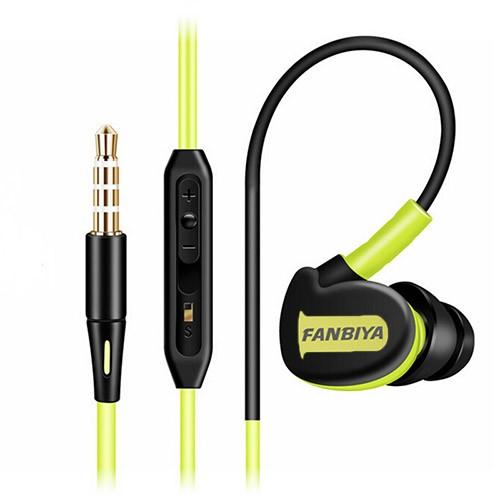 S500 Stereo Earphones Sport Running Headphones Super Bass Headset Earbuds HIFI Handsfree With Mic black