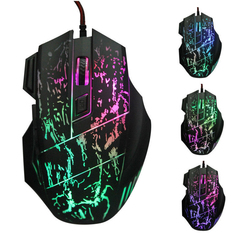 2019 5500DPI 7 Buttons 7 colors LED Optical USB Wired Mouse Computer Mouse Gaming Mouse For Gamer black one size