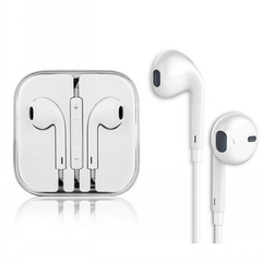 Earphone 3.5mm Universal Headset With Remote Mic For Apple IPhone Earphones Handsfree Mic white