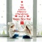 Merry Christmas Wall Sticker Window Stickers Christmas Ornaments  for Home New Year red one size