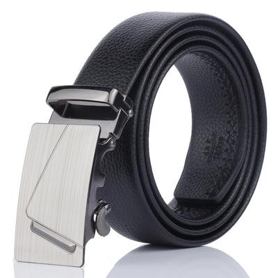 2019 Brand Men Fashion Business Belts Genuine Leather Strap Male Belt Jeans Automatic Buckle Belt BUCKLE DESIGN 2 Normal