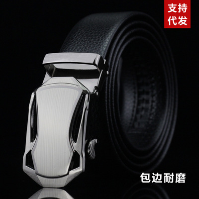 Men's Genuine Leather Belt New Designer Men Luxury Male Waistband Fashion Buckle Belt for Jeans buckle design 2 normal