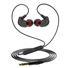 Headphones Music Earbuds Stereo Gaming Earphone for Phones Iphone Huawei Infinix with Microphone BLACK
