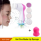 Fashion Spa Skin Care Massage Electric Face Facial Cleansing Brush Pink