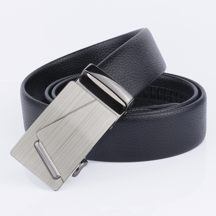 2019 Brand Men Fashion Business Belts Genuine Leather Strap Male Belt Jeans Automatic Buckle Belt BUCKLE DESIGN 3 Normal 22