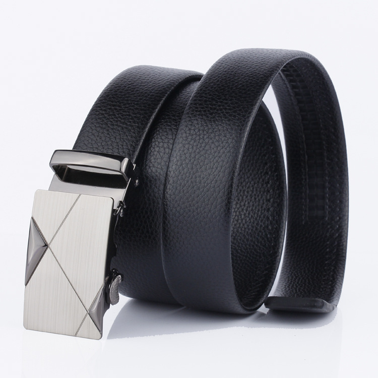 2019 Brand Men Fashion Business Belts Genuine Leather Strap Male Belt Jeans Automatic Buckle Belt BUCKLE DESIGN 3 Normal 24