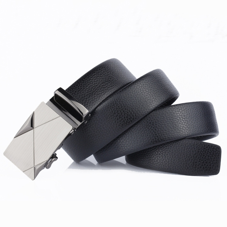 2019 Brand Men Fashion Business Belts Genuine Leather Strap Male Belt Jeans Automatic Buckle Belt BUCKLE DESIGN 3 Normal 25