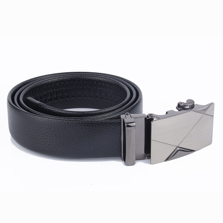 2019 Brand Men Fashion Business Belts Genuine Leather Strap Male Belt Jeans Automatic Buckle Belt BUCKLE DESIGN 3 Normal 26