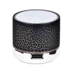 A9 Bluetooth Speaker Mini Wireless Loudspeaker Crack LED TF USB Subwoofer Bluetooth Speakers MP3 black normal