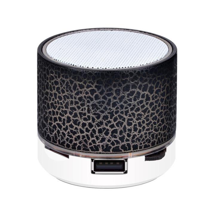 A9 Bluetooth Speaker Wireless Loudspeaker Crack LED TF USB Subwoofer Mp3 Stereo Audio Music Player black normal