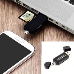 3 In 1 OTG Card Reader High-Speed USB2.0 Universal OTG TF/SD for Android Computer Extension Readers black normal Unlimited Unlimited