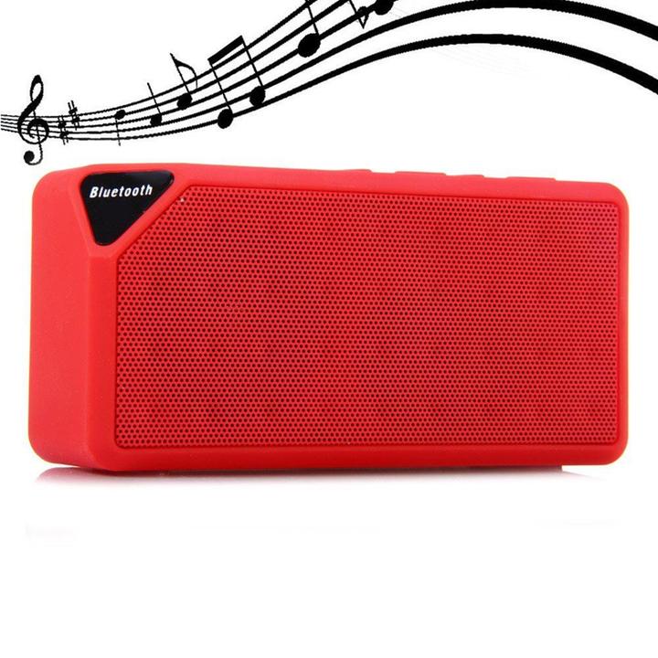 X3 Bluetooth V2.1 Mini Wireless Portable Speaker with FM Radio USB Input red one size