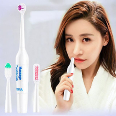 2019 Generic Electric Toothbrush With 3 Brush Heads Oral Hygiene Dental Care Multicolor Onesize