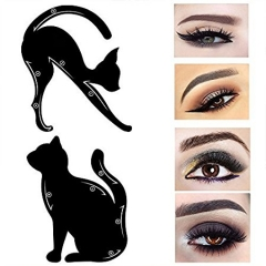 10 Pieces Cat Eyeliner Stencil Makeup 2 Sides Repeatable Use Eyeliner Template Tools black