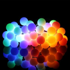 Outdoor String Lights, 18.7ft 40 LED Waterproof Ball Lights for Garden,Christmas Tree, Parties Multi Color 4