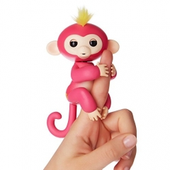 Fingerlings - Interactive Baby Monkey - Bella (Pink with Yellow Hair) Pink One-Size