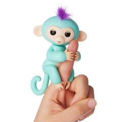 Interactive Baby Monkey, Wowwee Fingerlings Pet Electronic Little Baby monkey Children Kids Toys Green one-size