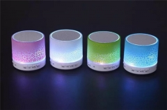Fashionable Bluetooth Portable Mini Speaker with LED Light by TechJumbo, Small Body Loud Voice white one size