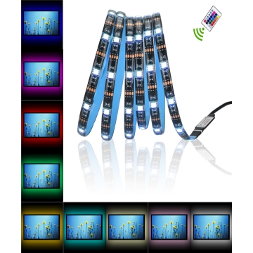 (Only 1 in stock) 2M TV Backlighting LED Light Strip Kit Remote Control USB 60 LED Waterproof Light colorful normal avarage