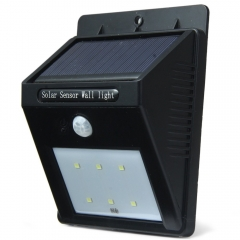 Solar Light Motion Sensor 6 SMD 2835 LEDs IP65 Water Resistant Light Control Garden Lamp black 0.5w