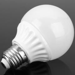 5PCS Environmental E27 9W 810LM White Light LED Bulb Lamp with Opal Cover white 10 x 6.2 x 6.2 9w