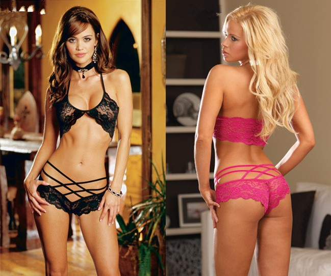 Usexy Sexy Lingerie Women Open Bra Erotic Babydoll Transparent Porn Sexy Underwear +T Pants black f